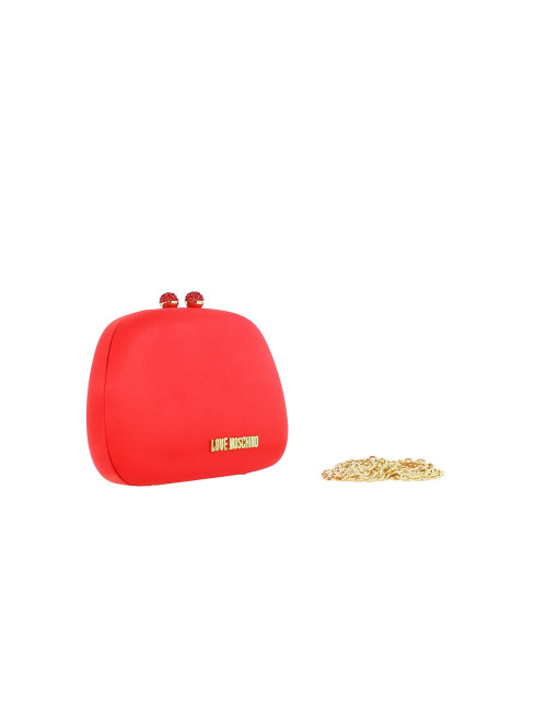 Pochette Love Moschino in raso