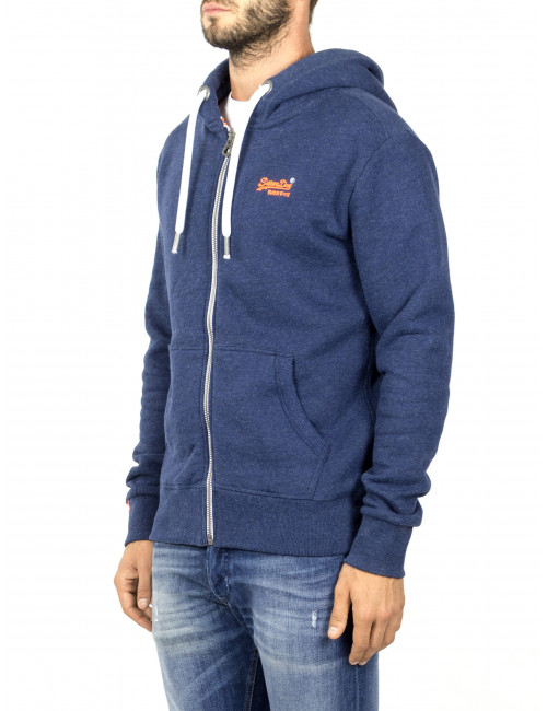 Felpa Orange Label Zip Superdry