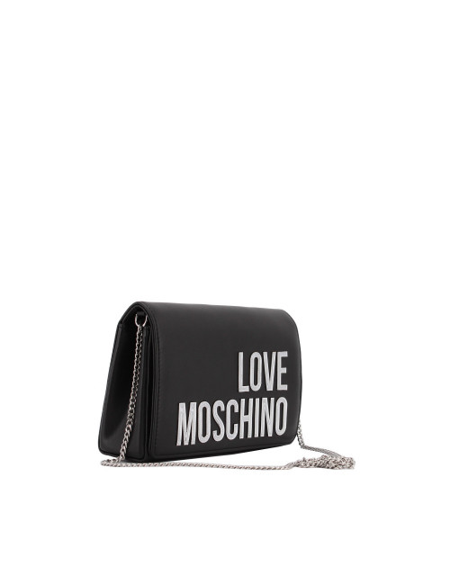 Evening Bag con logo laminato Love Moschino
