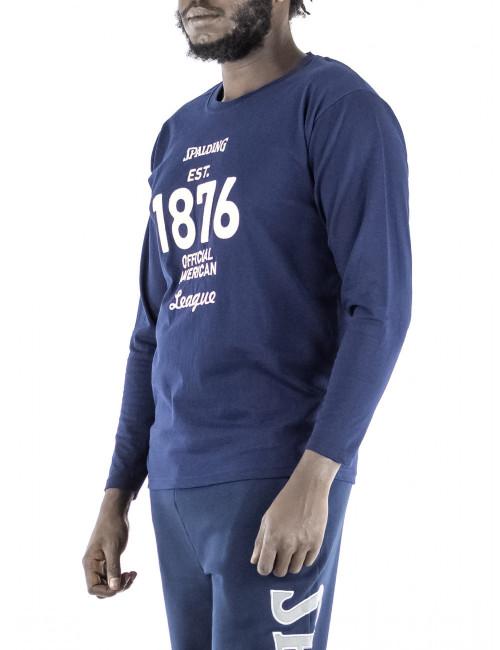 T-shirt maniche lunghe Spalding 1876