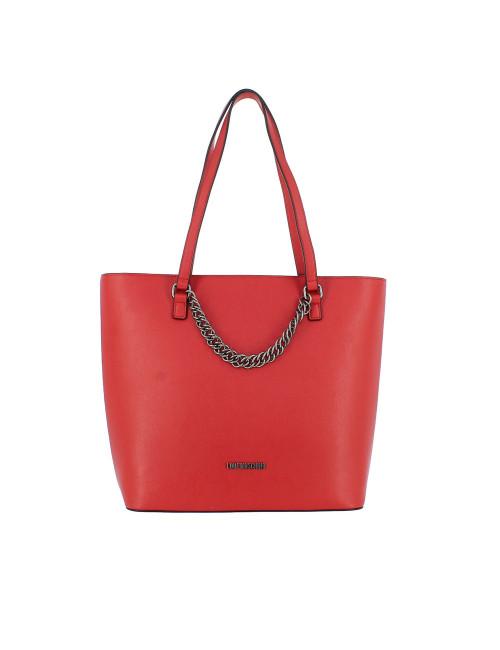LOVE MOSCHINO Shopper con tracolla rossa